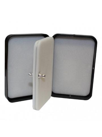 Krabička Ripple Foam stříbrná s obrázkem mušky